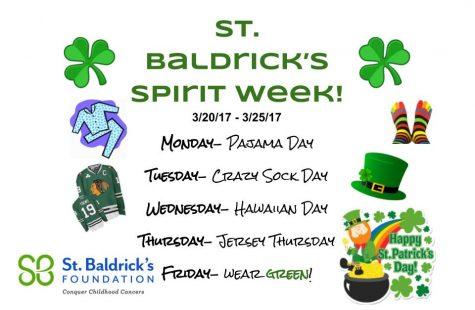 Show your St. Baldrick's spirit this week