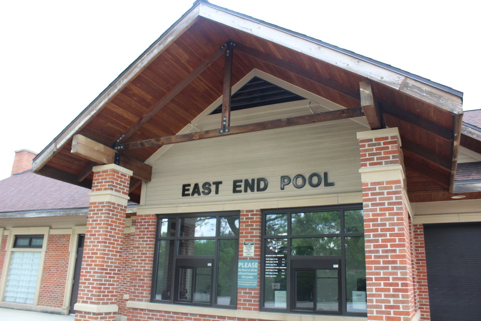 The entrance to the Park Distict's East End Pool.