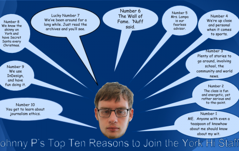 Top 10 reasons to join the York-hi staff