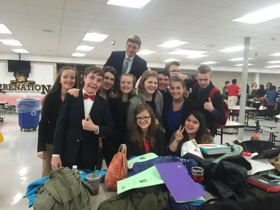 The+York+speech+team+preparing+for+their+regional+competition+last+school+year
