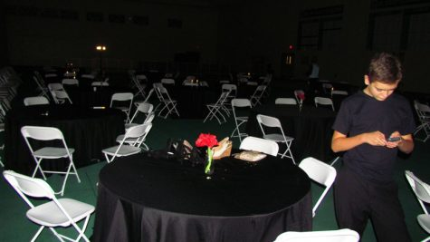 Along with the commons, student council organized tables next to the dance floor for students needing a break from dancing
