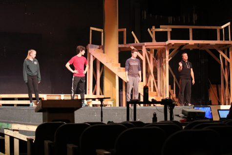 The cast learns forward falls along with backward falls to ensure safety onstage.