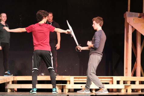 Orion actors how to attack and defend themselves when working with swords and other stage weapons.