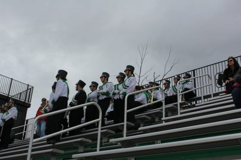 Supporters who came to watch the event were able to witness the unique sight of the York band in the stands.