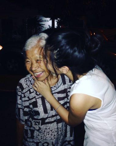 Honey Tey visiting her grandma, who still resides in Malaysia.