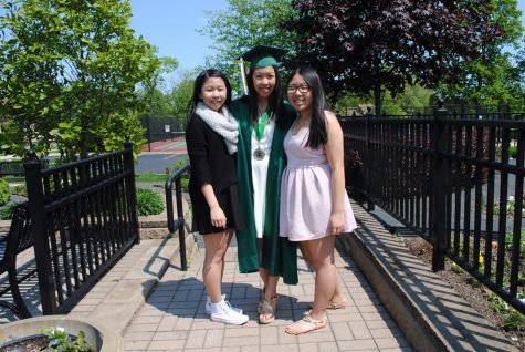 Honey Tey and her two sisters, Jiji and Shelly Tey, at Jiji's graduation last year.
