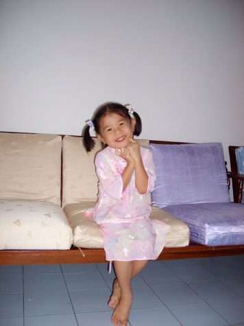 Honey Tey, four years old, at her father's house in Malaysia.