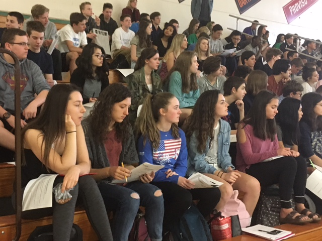 Freshmen English classes learn about the definition of sexual assualt and  consent during the Erin's Law