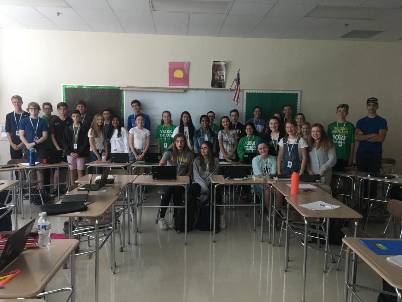 The freshmen of Ms. Dowling's seventh period English.