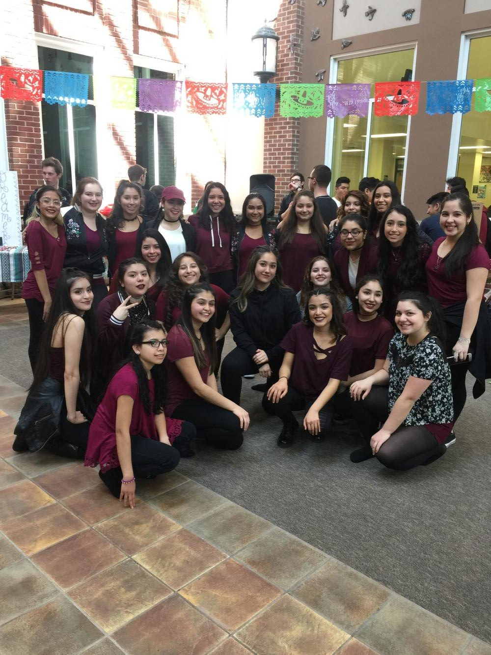 Latina Dreamers celebrating International Fest in Spring, 2017.