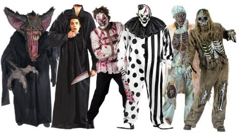 Some scary costumes