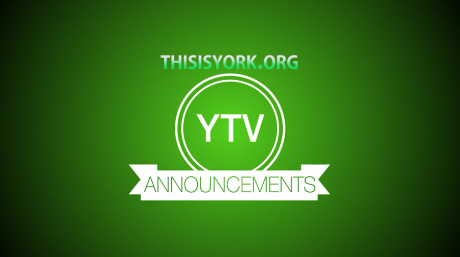 The YTV morning announcements logo that is projected during passing periods before the daily announcements begin.
