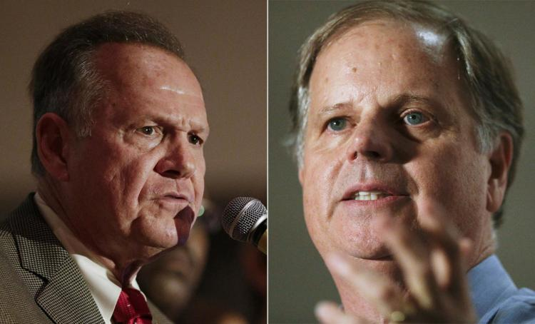 Republican nominee Roy Moore (left) and Democratic Nominee Doug Jones (right).