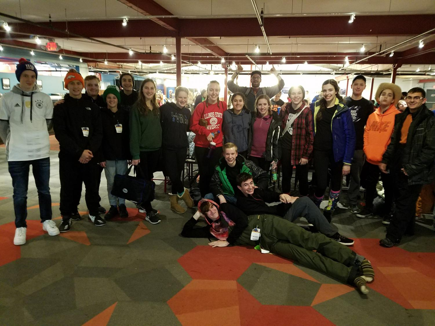 Participants unite together for a group photo after a long day of skiing on Jan. 26.