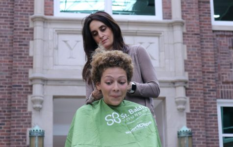 Students shave their heads to raise money for St. Baldricks