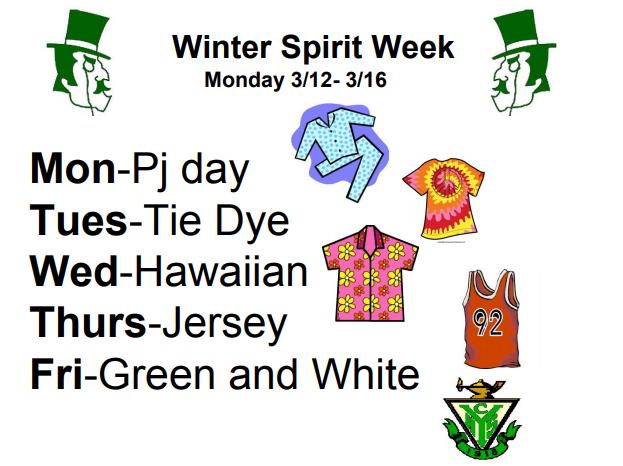 Participate in Winter Spirit Week