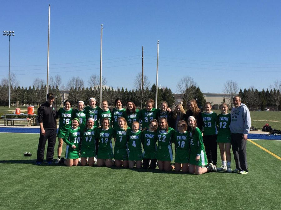 The+York+Girls+Varsity+Lacrosse+team+all+smiles+after+their+last+game+in+Kentucky+against+Kentucky+Country+Day.+Sun+March+18%2C+2018.