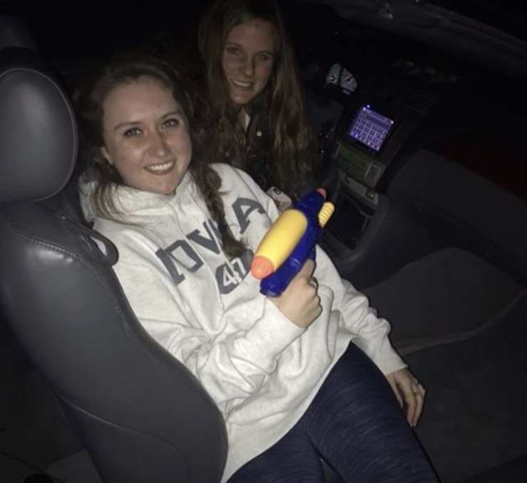 Senior+Ally+Foley+%28left%29+assassinated+senior+Maddie+Levins+%28right%29+during+the+first+round.+This+was+Foley%27s+first+kill+out+of+her+four+total+kills.+April+1%2C+2018.