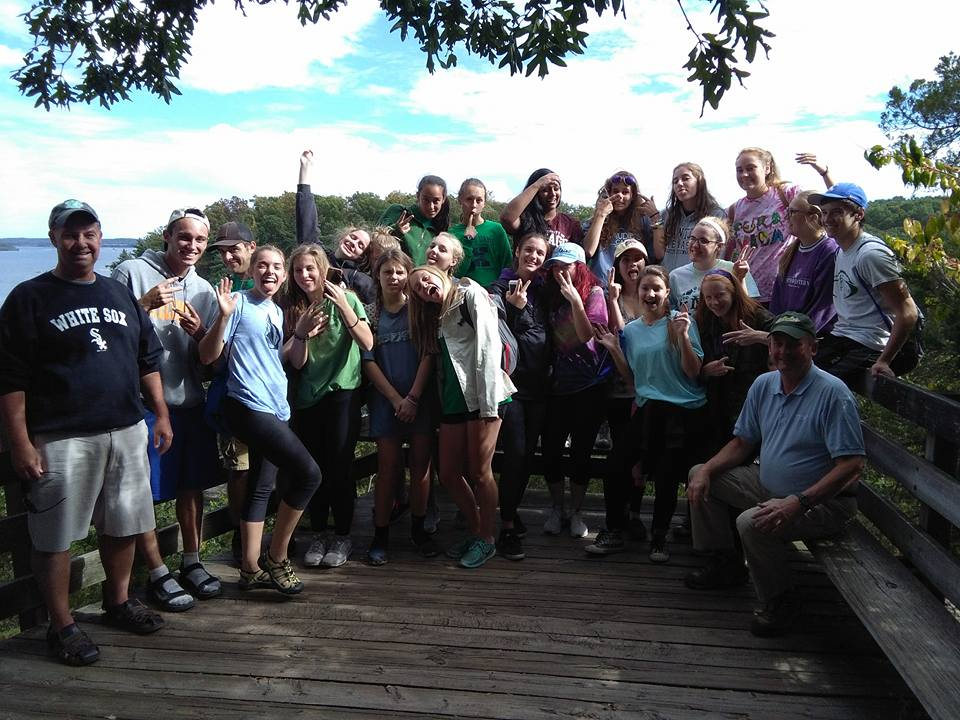 Eco Club members at Starved Rock during their fall canoe trip.