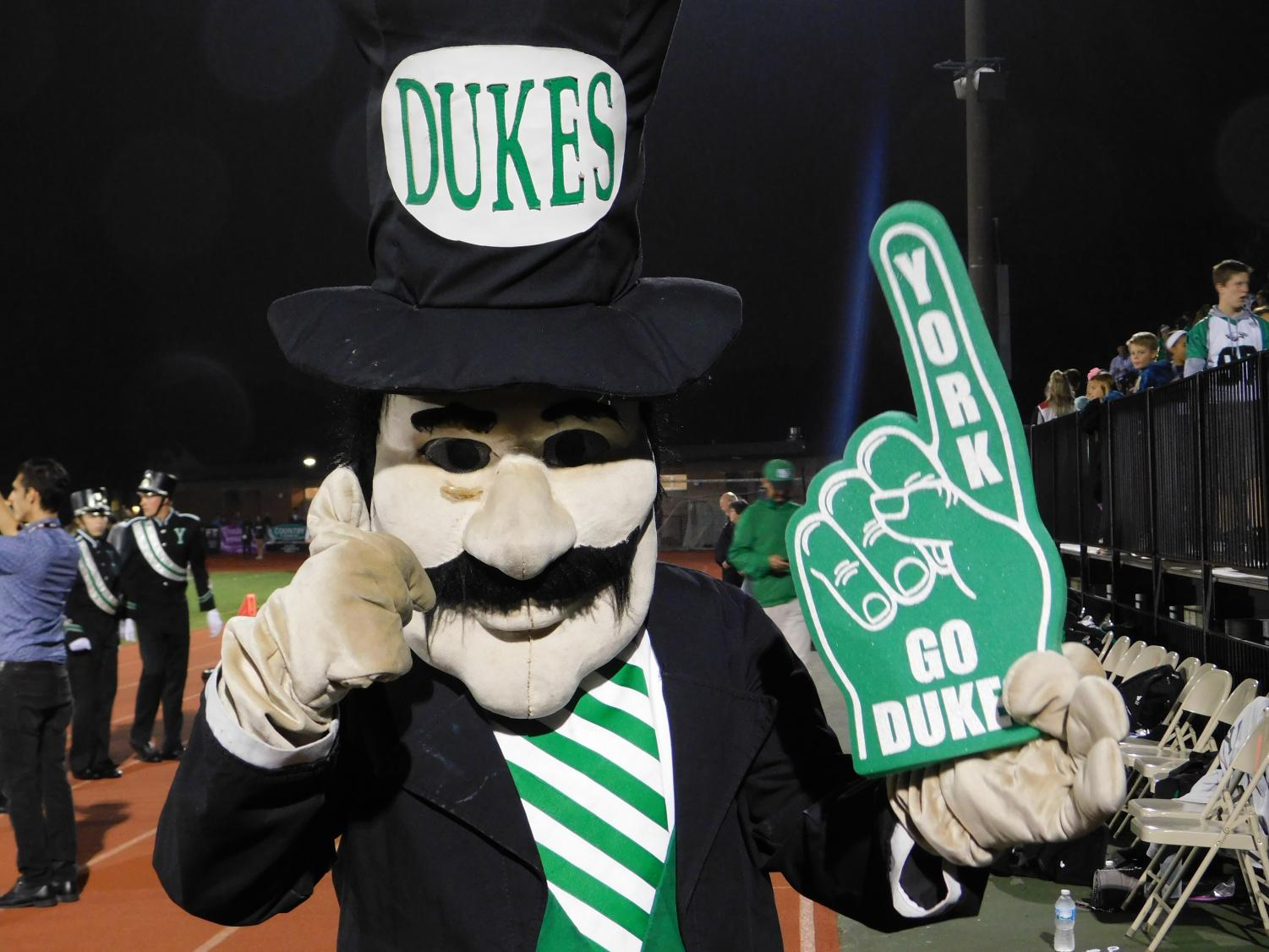 York's beloved Duke visited students in the stands and cheered the team on from the field, giving the camera a thumbs up.