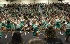 Dukes get riled up during the centennial homecoming pep rally