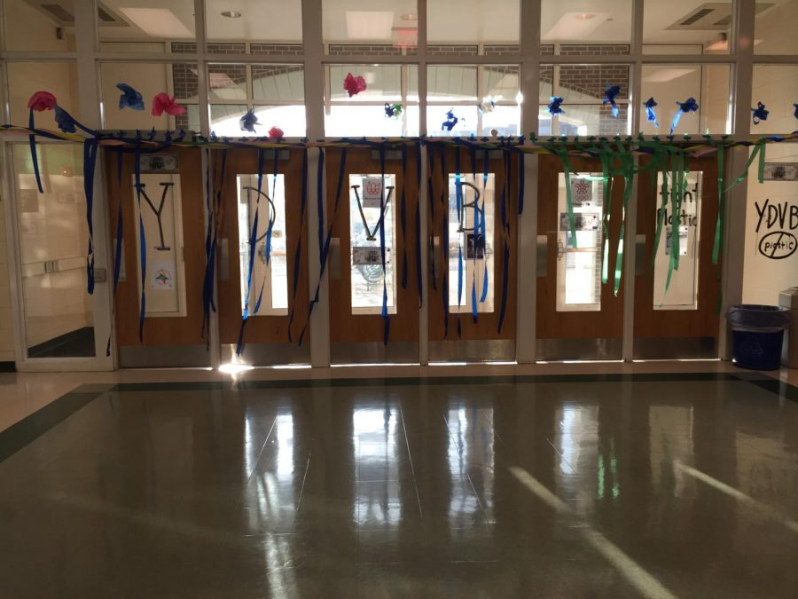 Volleyball hallway decorations