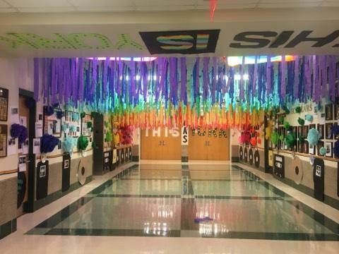 ASIS hallway decorations