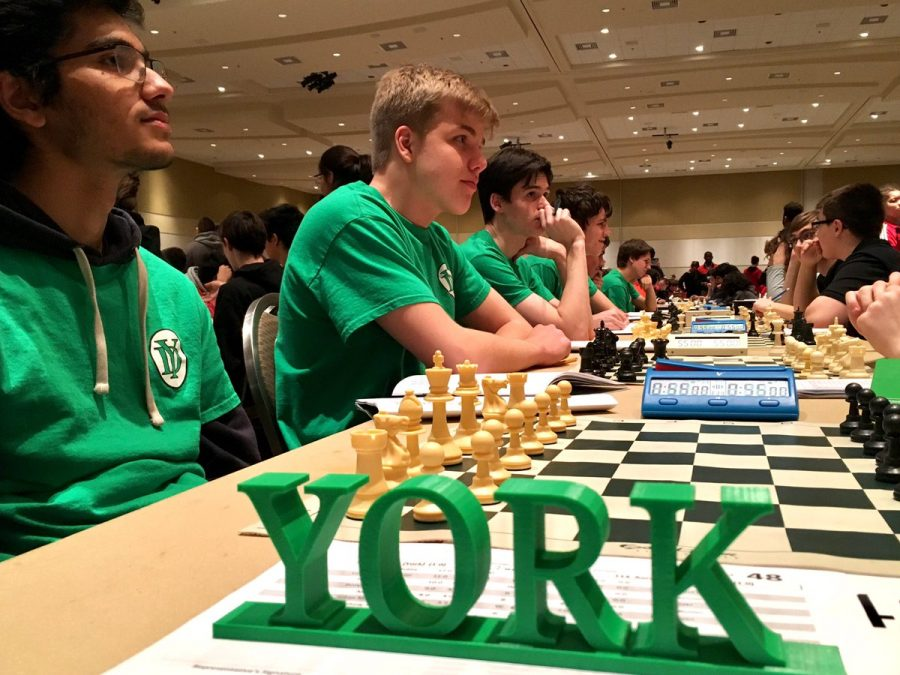 Chess Team setting up for intense matches. Photo courtesy of York Activities.