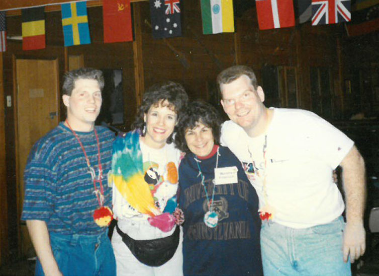 Salvo and Urbanski alongside former co-workers at a 1994 Operation Snowball outing at Camp Duncan.