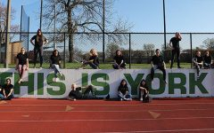 Seniors from York-hi's cover shoot pose on the