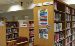 The learning commons new look replaces the old peer tutor area with a brand new genrefied fiction section.
