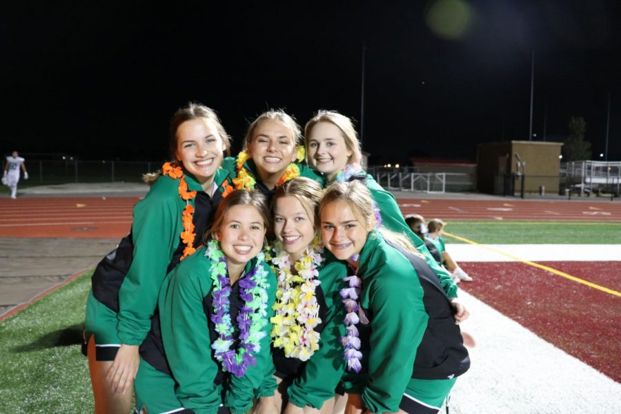 The seniors on the cheer team gather together as they start their last season.