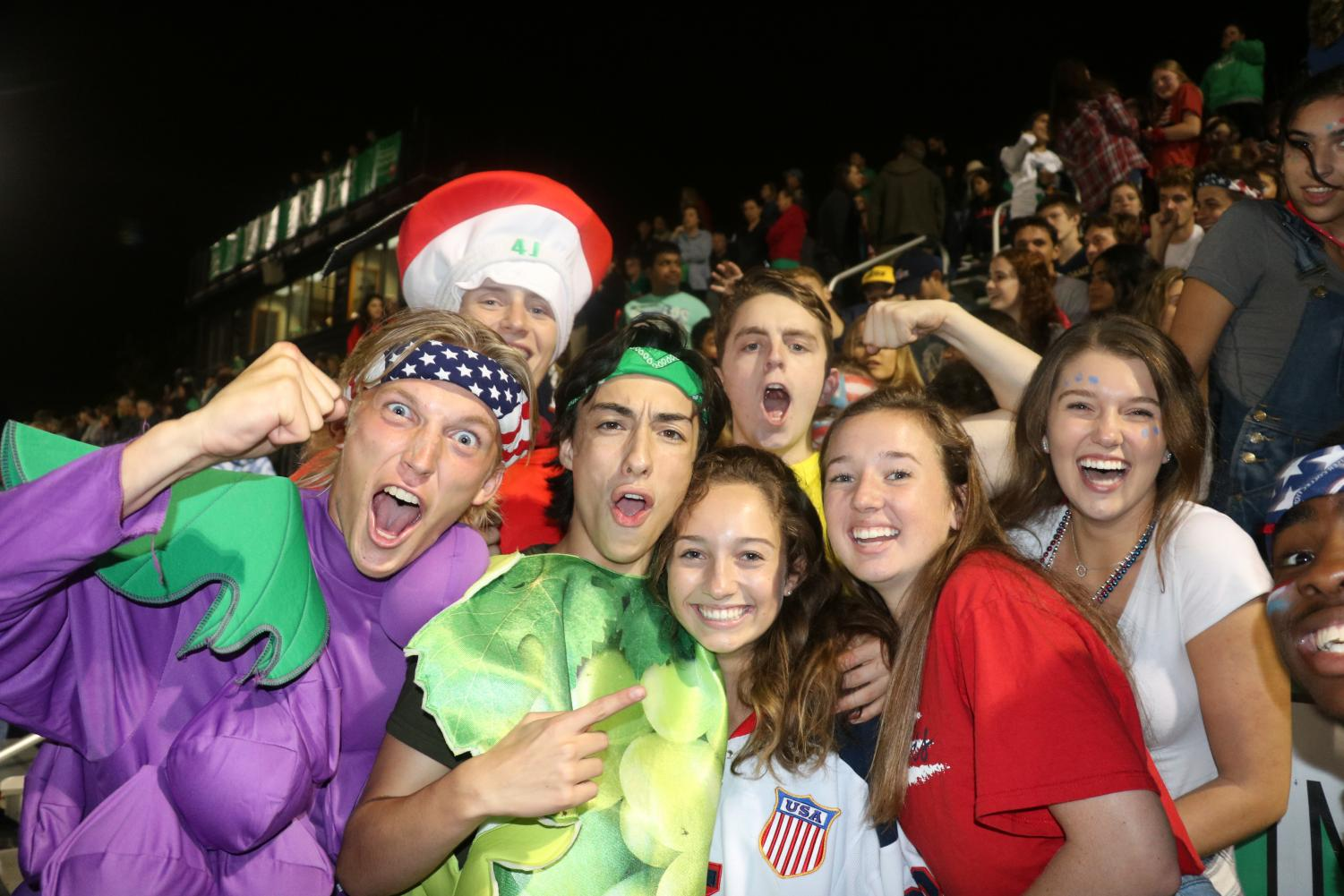 Fruit of the Duke members dominate the student section at the first home game.