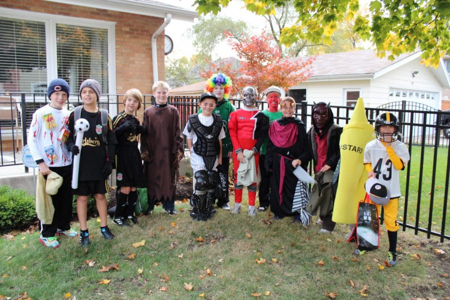 Current York students prepare to go trick-or-treating circa 2012