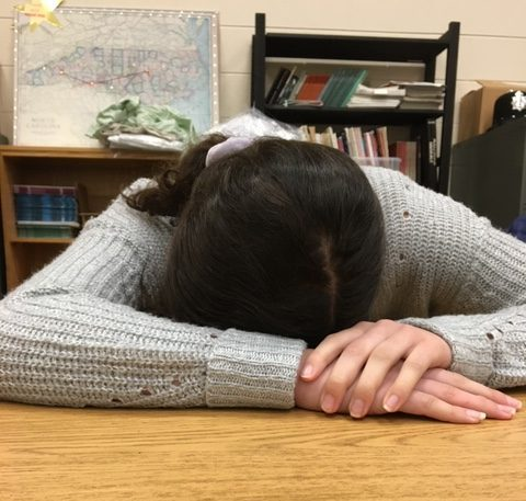 York students frequently sleep during their lunch periods due to late nights and early wake-ups for homework and studying