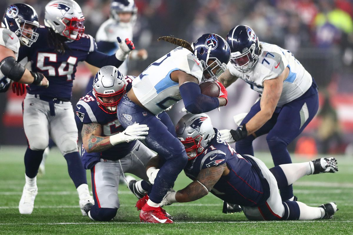 After a monster game against the Patriots last weekend, Titans running back Derrick Henry looks to keep his team alive this Saturday in Baltimore.