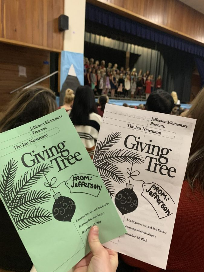 The Giving Tree celebration program  is featured for this year's Jefferson Elementary event.