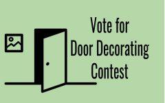 Vote for winter door decorating contest