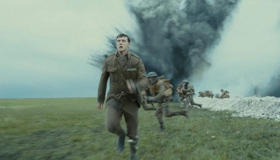 Sam Mendes's harrowing World War I film depicts two soldiers, Schofield and Blake, delivering a message to halt an attack.