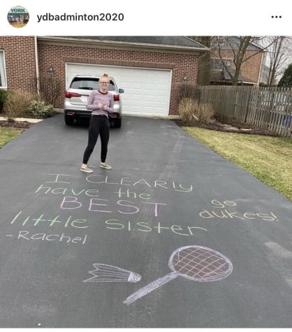 Off the court, but connected online: York Girls Badminton Team spends quarantine communicating through social media