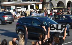 The Tuesday protest united members of the Elmhurst community and remained peaceful as protestors and passing vehicles showed their solidarity for the black lives matter movement.