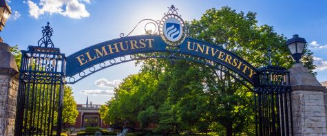 The famous arch, known as the Gates of Knowledge, in front of the Frick Center has officially changed its name from Elmhurst College to Elmhurst University.