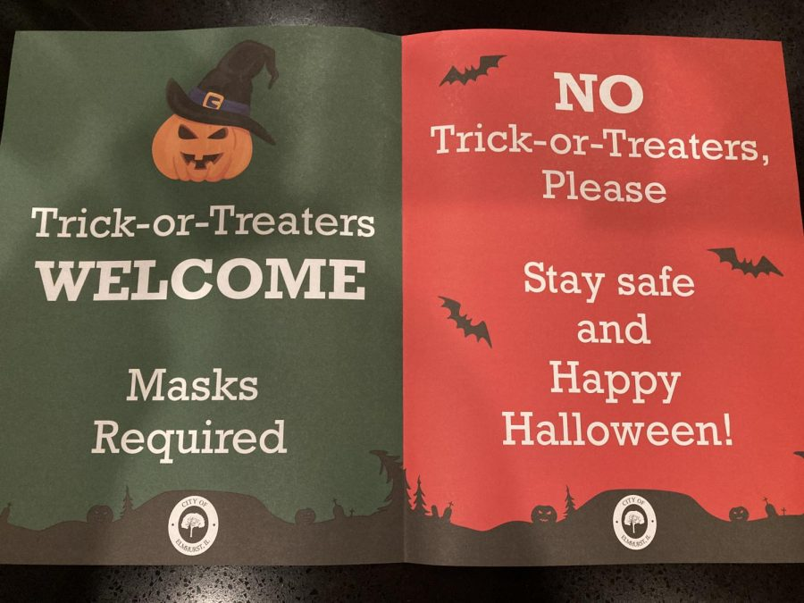 This Halloween, trick-or-treating is allowed in Elmhurst. However, the City of Elmhurst provided signs for community members to indicate whether or not they want trick-or-treaters this  year.