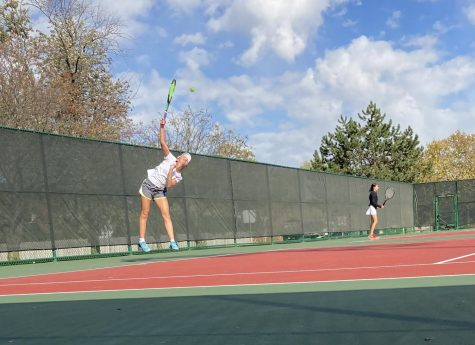 "Top singles varsity player Gianna Nickoleit, places third at sectionals on Friday. ""I knew that it was my last few matches of high school tennis, so I wanted to play the best I could. I even beat Hinsdale central!"" Nikoleit said."