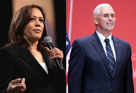 Vice-presidential nominees Kamala Harris (left), and Mike Pence (right) debated this Wednesday at Kingsbury Hall at University of Utah.