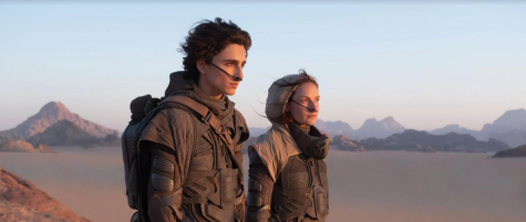 """Timothée Chalamet poses next to co-star Rebecca Ferguson in a scene from the movie """"Dune"""". The film, which was pushed back to October of next year due to COVID-19 precautions, also features Zendaya, Oscar Isaac, Jason Mamoa and Dave Bautista."""
