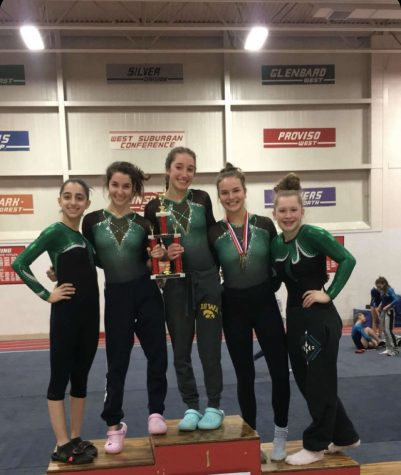 "Juniors Olivia Hyso, Ange Deblasio, Martha Miklyukh, Maryalice Shockey, and Hannah Haubry after a highschool tournament last winter season. ""If the season starts up I would definitely feel ready to compete,"" Shockey said."