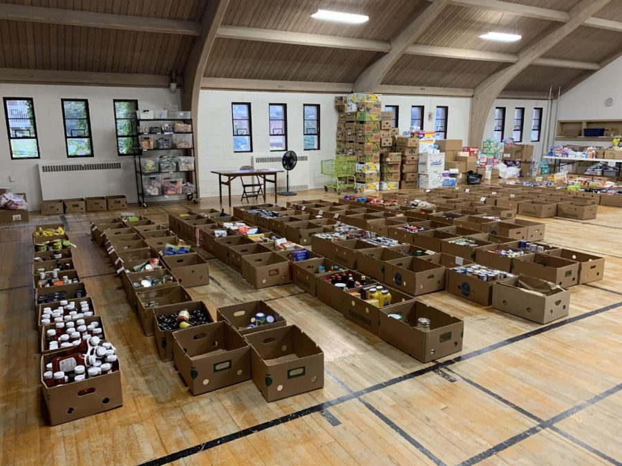 Photo of the food pantry in Glenn Ellyn. Food pantries in DuPage county have been working hard to provide food for people in need during the 2020 holiday season.