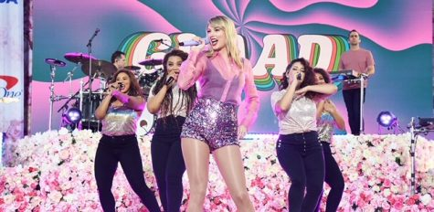 "Taylor Swift performs her first self-owned album ""Lover"" on ABC's ""Good Morning America"" in the summer of 2019. The album, which sold 3.2 million copies, was the world's best-selling studio album last year."