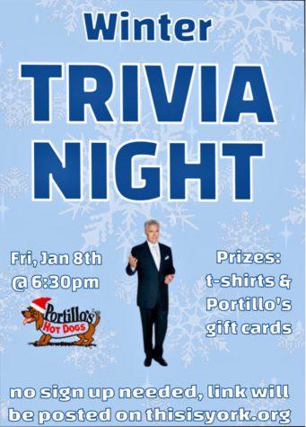 StuCo presents York Trivia Night this Friday